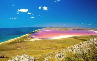 Кояшское озеро. Удивительное розовое озеро в Крыму